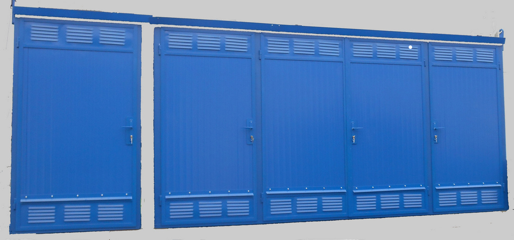 5 doors isolated gas cabinet