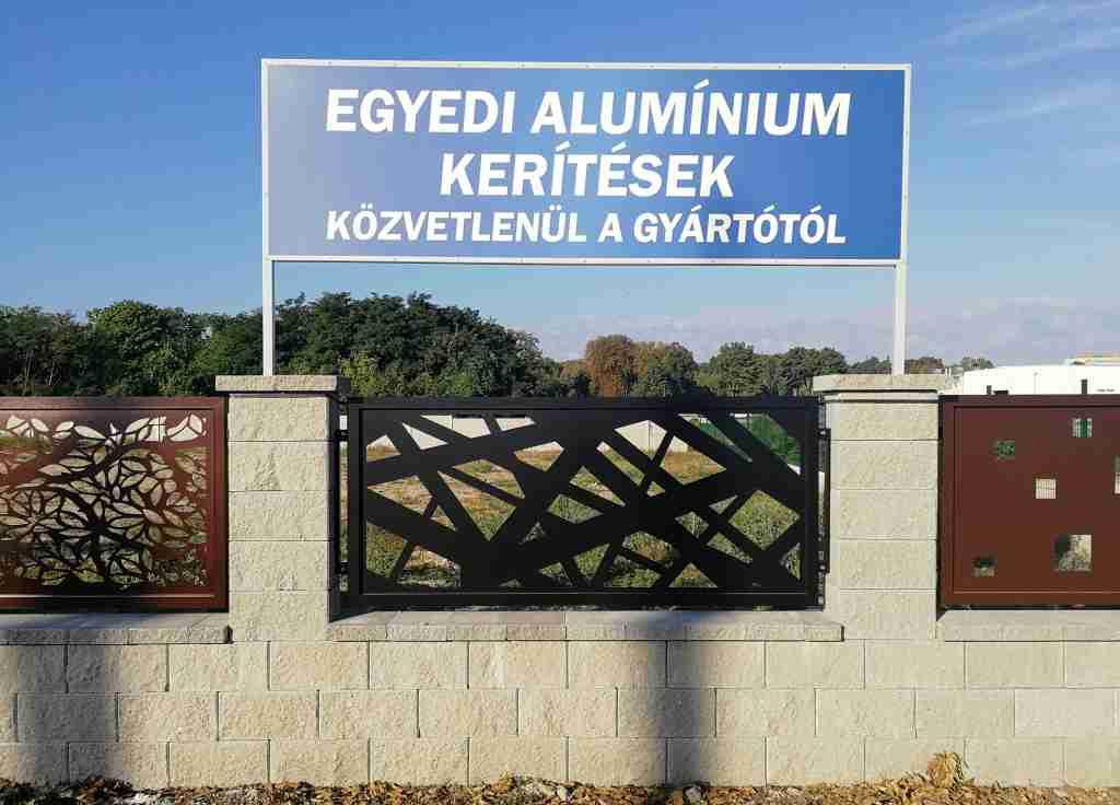 Alumínium kerítés bemutató - Kerítés elem minták
