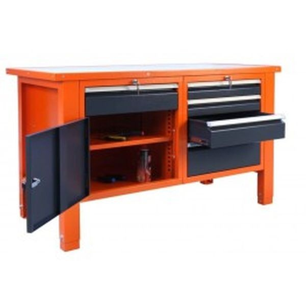 Metal drawer work bench