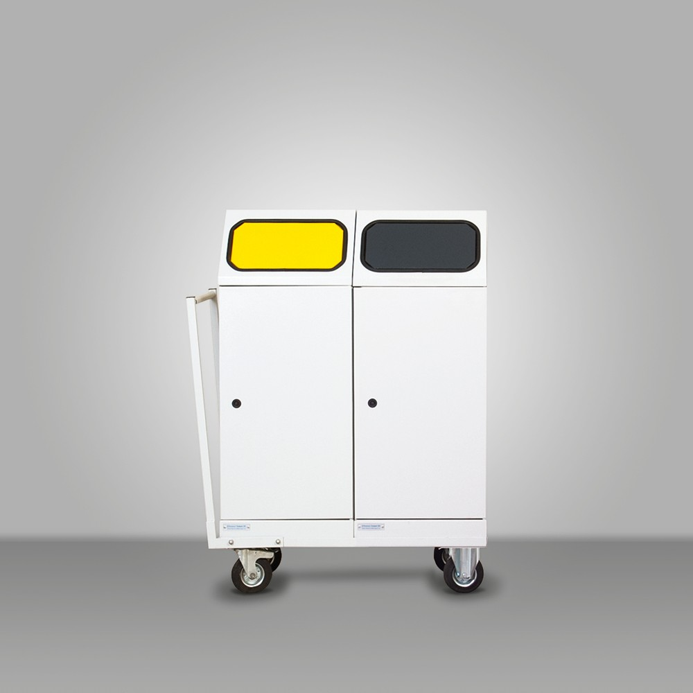 Mobile selective waste collectors with 2 bins(Audi)