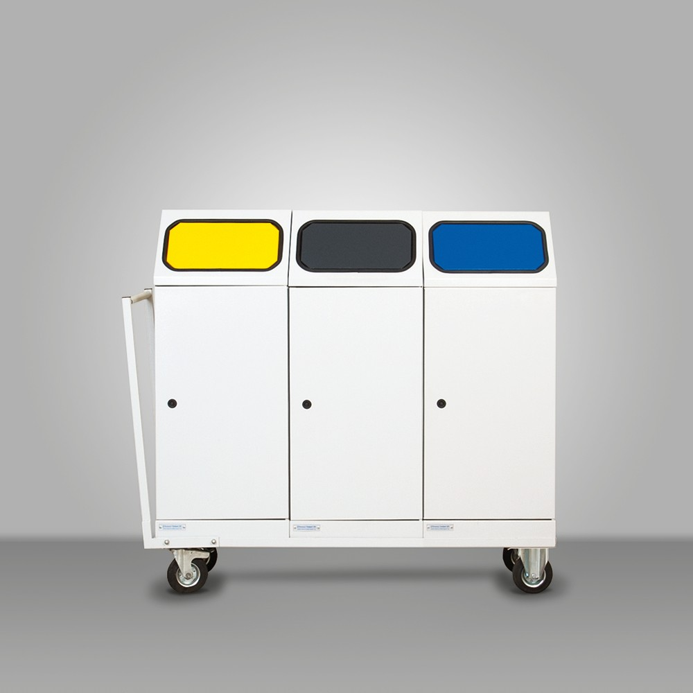 Mobile selective waste collectors with 3 bins(Audi)