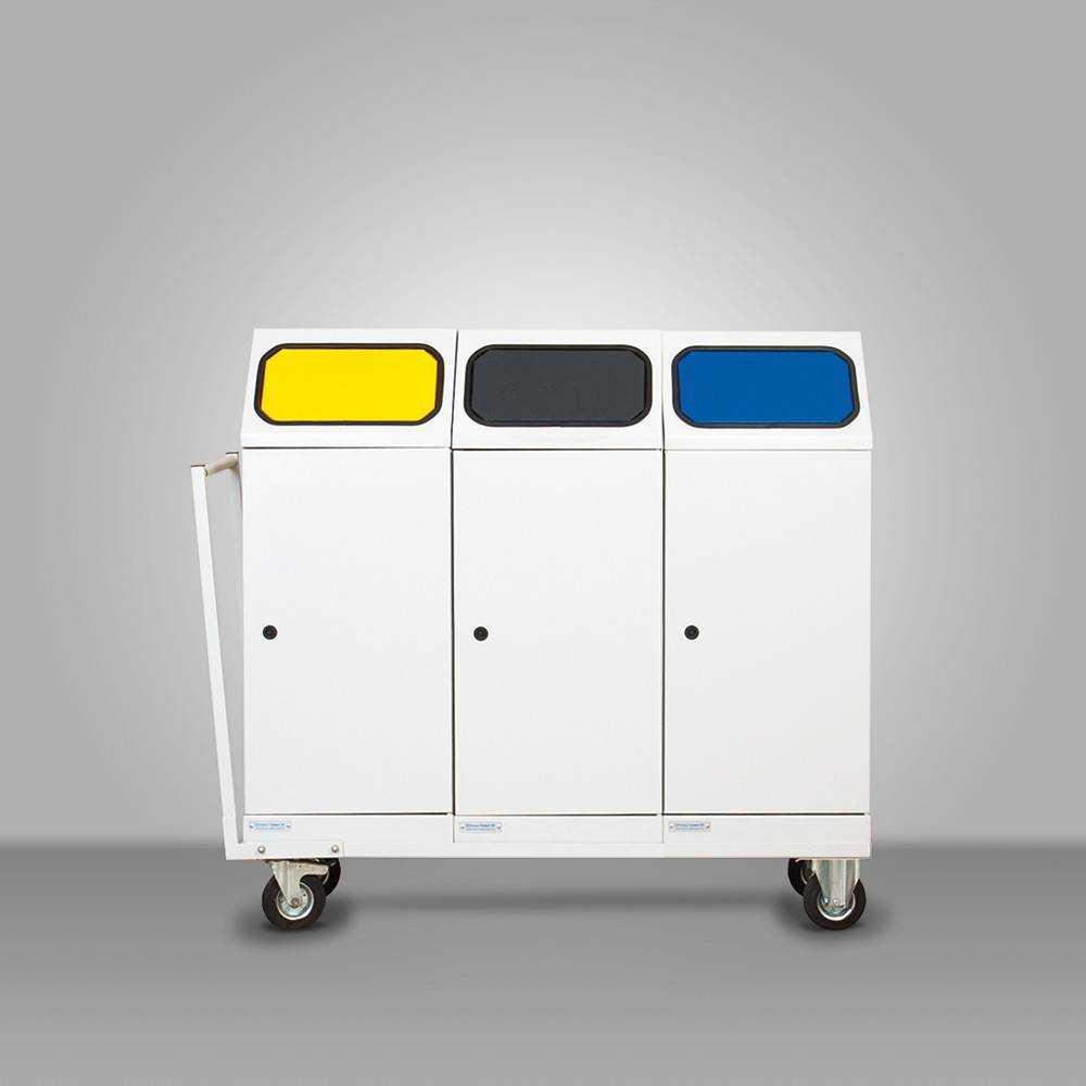 Mobil szelektív hulladékgyűjtő 3 edényes