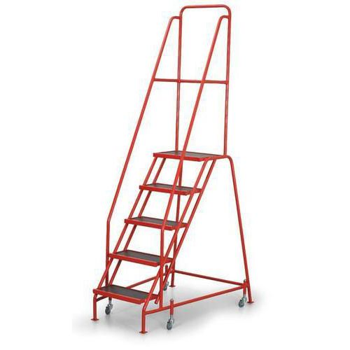 Trolley warehouse ladder