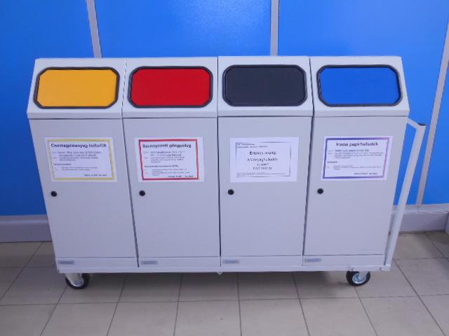 Mobil szelektív hulladékgyűjtő 4 edényes